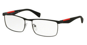 Prada Sport PS 54FV QFP1O1 BLACK/STEEL RUBBER