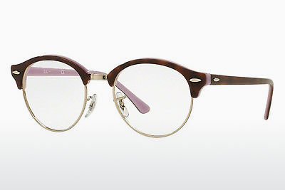 Eyewear Ray-Ban Clubround (RX4246V 5240) - Brown, Havanna, Purple