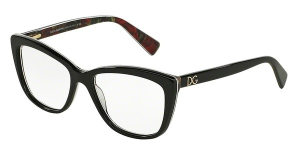 Dolce & Gabbana DG3190 2940 BLACK ON PRINTING ROSES