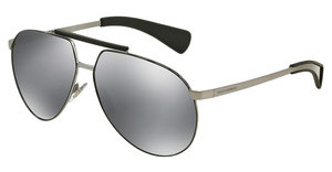 Dolce & Gabbana DG2152 04/6G GREY MIRROR BLACKGUNMETAL/BLACK