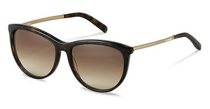 Jil Sander J3013 B sun protect brown gradient - 77%havana, gold