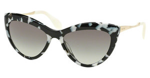 Miu Miu MU 08OS PC73M1 GRAY GRADIENTHAVANA WHITE BLACK