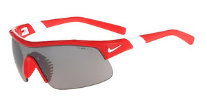 Nike SHOW X1 EV0617 600 UNIVERSITY RED/WHITE WITH GREY W/SILVER FLASH LENS/CLEAR TINT LENS LENS