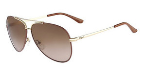 Salvatore Ferragamo SF131S 731 SHINY GOLD W/LIGHT BROWN ENAME