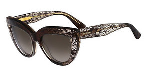 Valentino V709S 241 BROWN FADED LACE