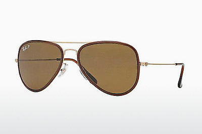 Ophthalmic Glasses Ray-Ban AVIATOR FLAT METAL (M) (RB3513M 149/83) - Gold