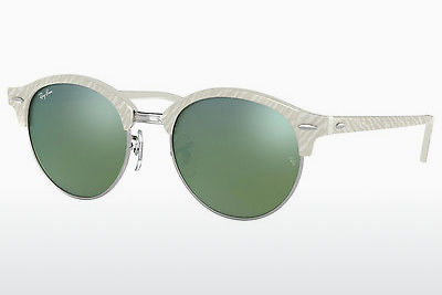 Zonnebril Ray-Ban Clubround (RB4246 988/2X) - Wit