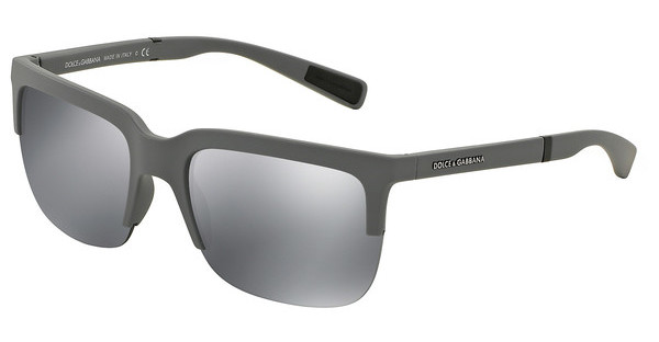 Dolce & Gabbana DG6097 26516G GREY MIRROR BLACKGREY RUBBER