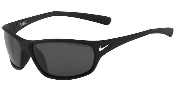 Nike RABID P EV0604 095 MATTE BLACK WITH POLARIZED GREY LENS Polarized LENS