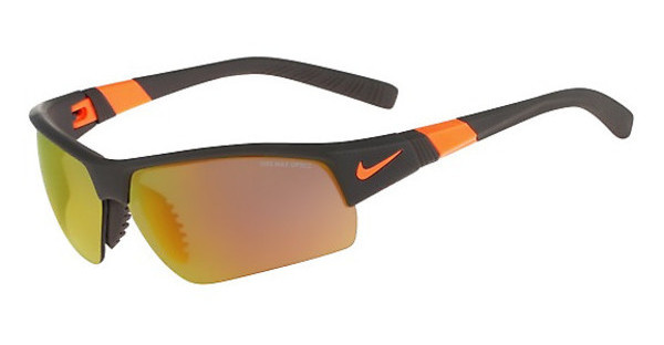 Nike SHOW X2 PRO R EV0806 208 MATTE DEEP PEWTER/TOTAL ORANGE/SHATTER WITH GREY W/ ML ORANGE FLASH LENS/GREY LENS LENS